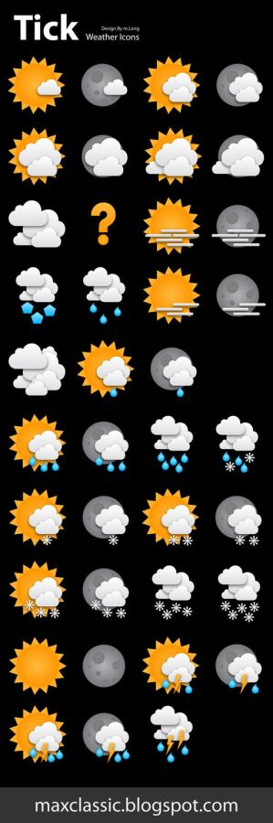 tick weather icons by xiao4 Icon, Icons and more Icons
