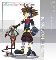Sora in Heartless Uniform by J4ne-d-C4t