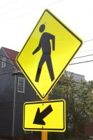 Crossing sign by churra-stock