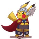 Commission: Thor the Pikachu by Sandstormer