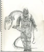Armored Man with Snake by S0UL-ReaperX