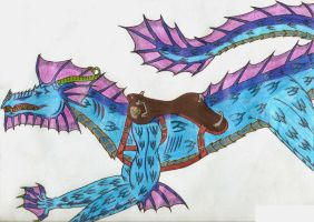 Aquaria's Saddle by crescentwolf01