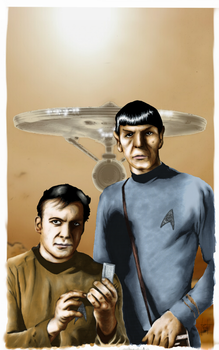 Star Trek - Kirk and Spock by skunk4gwop