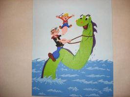 Popeye,Beany,Cecil painting by zombiegoon