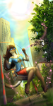 On a swing in the spring sky by Araivis-Edelveys