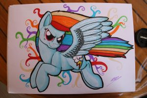 Rainbow Dash Pro Marker by Mioumioune
