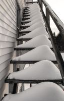 Snow on the fire escape by mcbarker