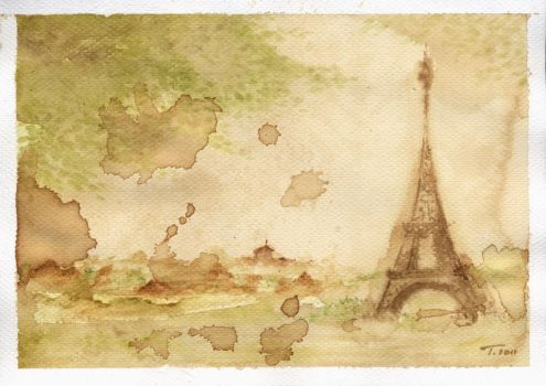 Watercolour tower by Japaneska