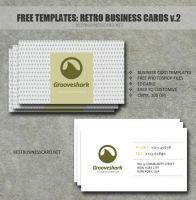 Retro Business Card Template in PSD Ver. 2 by fiftyfivepixels