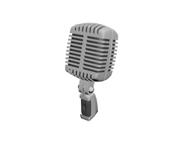 Microphone 3d model by Ovilia1024