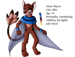 Bryson: Reference Sheet by LucarioGirl4Ever