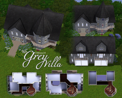 Sims 3 Lots: Grey Villa by DOMOodo