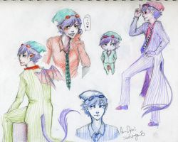Ao no Exorcist OC - sketchpage by AnneDyari