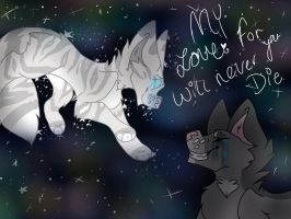 My love for you will never die.m by xXFluffehWolfXx