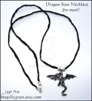 Dragon Soar Necklace _for men_ by 1337-Art