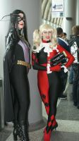 Huntress and Harley Quinn by VoiceofSupergirl