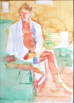 Self-Portrait 004 -Watercolour by askar