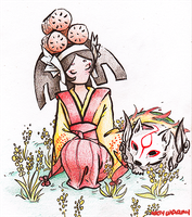 Kushi and Doggy by Vether