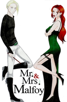 Mr. + Mrs. Malfoy -revisited- by TheRaineDrop
