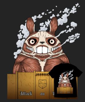 Attack on Totoro by Th3DarkKn1ght