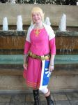 Zelda by the Fountains by LadyAltara