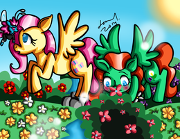 CE for Cheferoni- Fun at the Breezie garden by Warped-Dragonfly