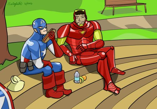 Stony - Marvel Adventures panel redraw by Selofain