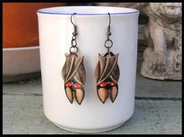 Baby Batty Earrings SOLD by natamon