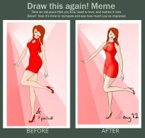Before and after - Lady in red by Zedna7