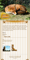 2013 free Fox journal skin (updated) by leticiaprestes