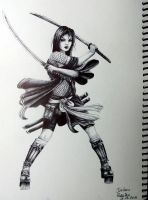 Samurai girl by Juliano-Pereira