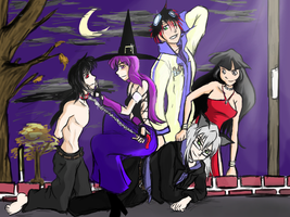 Halloween Ascension by aaronmizuno