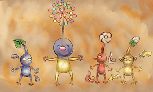 Pikmin drawings by Twin-Cats