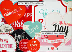 Lovely Love  Vectors Pack  by natieditions00