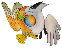 Ho-oh and Lugia by Tsuani-Inushiro