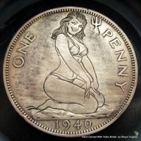 Bettie Page Hand Engraved Penny by Shaun Hughes by shaun750