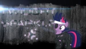 Futuristic grunge - Twilight Sparkle wallpaper by Chaz1029