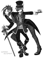Ciel and Sebastian by xpoemiix