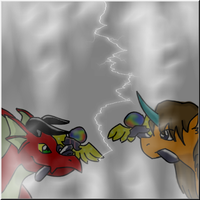 Dragnerok And Ippos: Fight by paradiserain