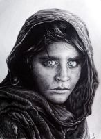 Afghan Girl by Thenothappening
