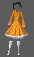 Orange Lolita Dress by Tankitha