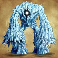 Endless Realms bestiary - Ice Golem by jocarra