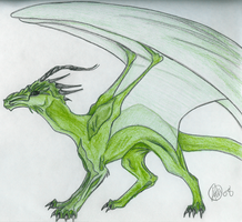 Green Dragon by BrookeScuzzi