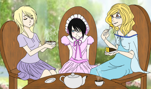Tea Time with Princess Artemis by The-Silent-Angel