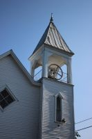 little white church in White Springs Pennsylvania by Maggiesdaisy