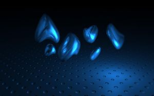 Floating Blue Things by Micoolsoft