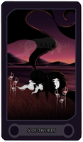6 of Swords - Tarot Card by Astralseed