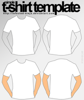 Simple Tshirt Template by infected-ninja