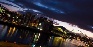 Newcastle by night 4 by paradoxofminds