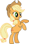 Applejack~  Pixel Art by CaptainRainbowz